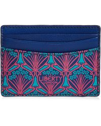 Liberty - Card Holder In Iphis Canvas - Lyst
