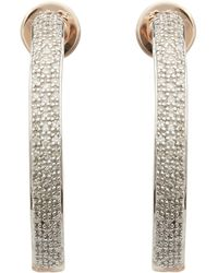 Monica Vinader - Rose Gold-plated Fiji Large Diamond Hoop Earrings - Lyst