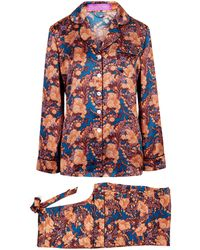 Liberty - Florence June Silk Satin Long Pyjama Set - Lyst