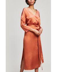 Paloma Wool - Leonor Wrap Midi-dress - Lyst