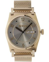 Nixon - Gold-tone Jane Deco Tribe Watch - Lyst