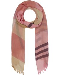 Johnstons - Madras Cashmere Check Scarf - Lyst