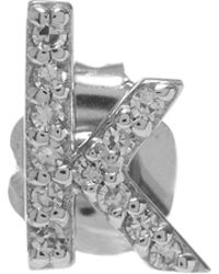 KC Designs - Rose Gold Diamond K Single Stud Earring - Lyst