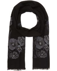 Paul Smith - Floral Embroidery Scarf - Lyst