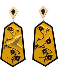 Anna E Alex - Fiori Di Ciliegio Gold-plated Resin Earrings - Lyst