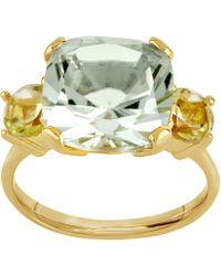 Dinny Hall - Gold Vermeil Teresa Green Amethyst And Oro Verde Ring - Lyst