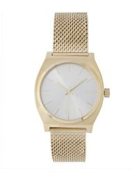 Nixon - Gold-tone Time Teller Milanese Deco Tribe Watch - Lyst