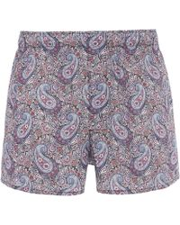 Liberty - Lee Manor Tana Lawn Cotton Boxer Shorts - Lyst