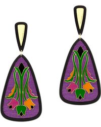Anna E Alex - Tulipani Decò Resin Drop Earrings - Lyst