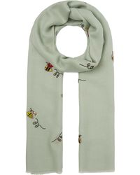 Janavi - Embroidered Bees Cashmere Scarf - Lyst