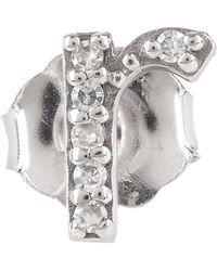 KC Designs - Diamond R Single Stud Earring - Lyst