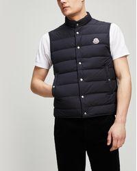 8bbf24e68e6a Lyst - Men s Moncler Waistcoats and gilets Online Sale