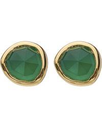 Monica Vinader - Gold Vermeil Green Onyx Siren Stud Earrings - Lyst