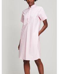 A.P.C. - Agadir Cotton Shirt-dress - Lyst