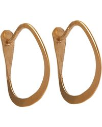 Melissa Joy Manning   Small Triangle Hoop Earrings   Lyst