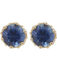 Anna Sheffield - Gold Petite Solitaire Earrings - Lyst