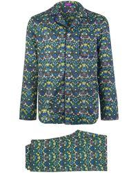 Liberty - Strawberry Thief Long Cotton Pyjama Set - Lyst