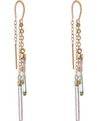 Melissa Joy Manning   Gold Tourmaline Three Drop Earrings   Lyst