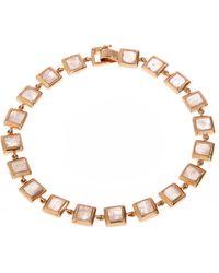 Nak Armstrong - Gold Moonstone Bracelet - Lyst