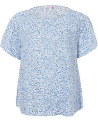Uniqlo - Kimberly And Sarah Printed Linen Short Sleeve Blouse - Lyst