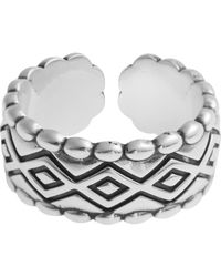 Philippe Audibert - Silver Diamond Pattern Romy Ring - Lyst