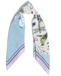Silken Favours - Spring Printed Silk Scarf - Lyst