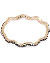 Kismet by Milka - Black Diamond Zigzag Ring - Lyst