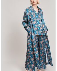 Liberty - Leontine Silk Satin Long Robe - Lyst