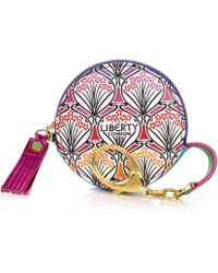 Liberty - Round Coin Pouch In Rainbow Canvas - Lyst