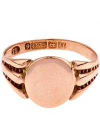 Annina Vogel - Gold Signet Ring - Lyst