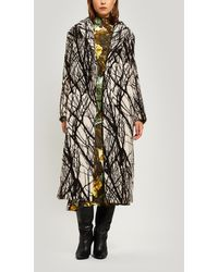 Erika Cavallini Semi Couture - Printed Wool-blend Overcoat - Lyst