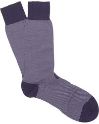 Pantherella - Seymour Micro Stripe Cotton Socks - Lyst