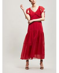 3.1 Phillip Lim - Textured Silk Maxi-dress - Lyst