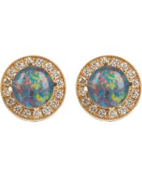 Andrea Fohrman - Gold Australian Opal Stud Earrings - Lyst