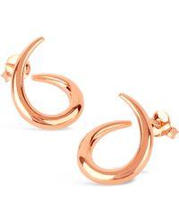 Dinny Hall   Rose Gold-plated Medium Toro Twist Stud Earrings   Lyst