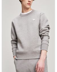 Acne Studios - Fairview Face Mélange Fleece-back Cotton-jersey Sweatshirt - Lyst