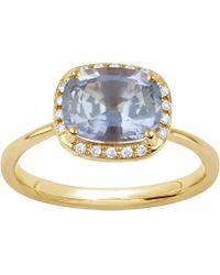 Dinny Hall - Gold Sheba Cushion Sapphire And Diamond Ring - Lyst