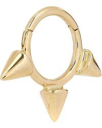 "Maria Tash - 1/4"" Gold Small Triple Spike Earring - Lyst"