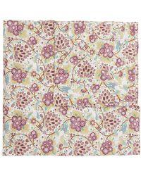 Liberty Floral Birds Cotton Handkerchief - Pink