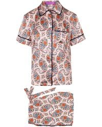 Liberty - Florence Evelyn Silk Satin Short Pyjama Set - Lyst