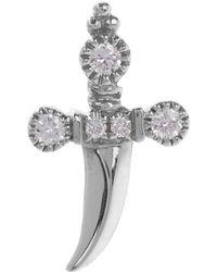 Maria Tash - Medium Diamond Dagger Threaded Stud Earring Right - Lyst