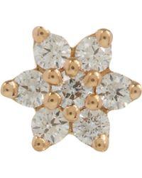 Maria Tash - 3mm Diamond Flower Threaded Stud Earring - Lyst