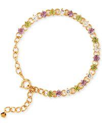Dinny Hall   Suffragette Gold Vermeil Gem Drop Bracelet   Lyst