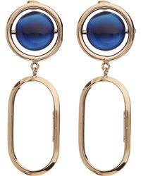 Rosantica - Gold-tone Scoperta Blue Quartz Drop Earrings - Lyst