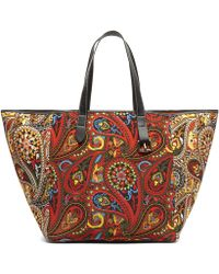 JW Anderson - Belt Leather-trimmed Printed Canvas Tote - Lyst