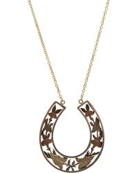 Annina Vogel - Silver And Gold Horseshoe Necklace - Lyst