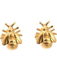 Alex Monroe - Little Bee Stud Earrings - Lyst