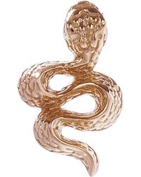 Maria Tash - Large Engraved Diamond Snake Threaded Stud Earring Left - Lyst