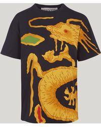 Valentino - Dragon-print Cotton T-shirt - Lyst