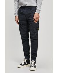 Stone Island - Dyed-cotton Cargo Trousers - Lyst